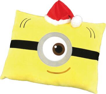 【ミニオンズ】【クッション】ミニオンズ マシュマロ スクエアクッション4 サンタ帽子A柄【おもちゃ グッズ キャラクター ふわふわ インテリア かわいい おしゃれ 長方形 リラックス 四角 四角形 プレゼント ギフト 贈り物 枕】