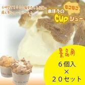 送料無料 シュークリーム 特級赤玉卵をつかった まほうのcupシュー 6個セット 20入【 パチンコ店様景品用 】