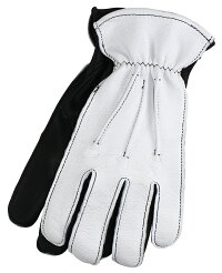 LanglitzLeathers×Churchill Glove [-All Seasons- WHITE GOATxBLACK DEER size.S,M,L,XL]
