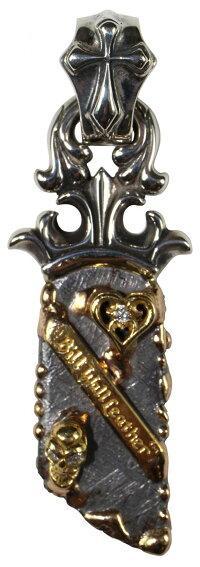 B.W.L -Bill's Way- [B.W.L -Bill's Way- [-Meteorite Pendant w/18K Gold Overlay,22K Heart w/Dia,Skull w/2 Diamonds,Skid Plate w/Crucifix Bail-]