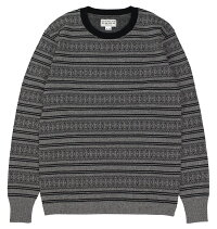 WESTRIDE [-CLASSIC MULTI BORDER L/S SWEATER-  GRY×BLK size.36,38,40,42,44]
