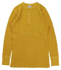 "JELADO [""MEGA THERMAL -Henley Neck-"" ATHLETIC BRAND AB04208 MUSTARD size.34,36,38,40,42]"