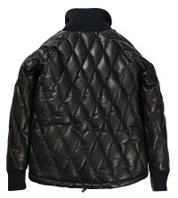 WESTRIDE [-ALL NEW RACING DOWN JACKET TYPE 2 with WIND GUARD:RELAX FIT : HORSEHIDE- BLK size.S,M,L,XL,XXL]
