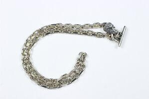 "B.W.L [-Square Chain Link Necklace w/ Lion Head 18""-]"