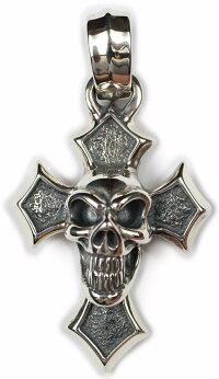 "B.W.L [-""C""Cross w/Good Luck Skull Pendant-]"