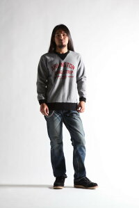 WESTRIDE [-HEAVY WEIGHT FRONT V SWEAT 2-TONE- H.GRY×BLK size.36,38,40,42,44]
