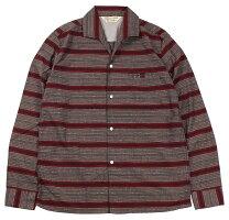 "JELADO [""Vincent Shirt Nep Border"" BASIC COLLECTION #SG43153 MOCHA size.S,M,L,XL]"