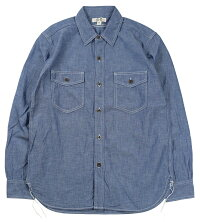 "JOHN GLUCKOW [Riders on the Storm ""The Everyday Work Shirt"" JG43112 INDIGO size.S,M,L,XL]"
