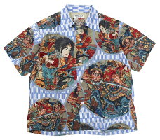 "SUN SURF [歌川国芳 SPECIAL EDITION ""通俗水滸伝豪傑百八人之一個"" BLUE size.S,M,L,XL]"