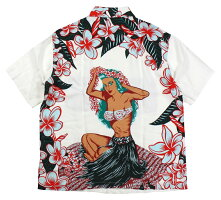 "SUN SURF [SPECIAL EDITION ""HULA GIRL"" (short sleeve) OFF WHITE size.S,M,L,XL]"