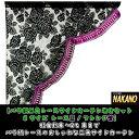 【バラ柄三角レースサイドカーテン左右セット (Sサイズ) レ...