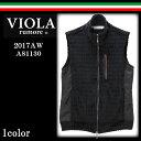 VIOLA ヴィオラ A81130 長袖 切替 ボア フルジップアップ ベスト メンズ ロゴ BITTER ビター系 ビタ男 オラオラ系 VIOLA rumore トップス