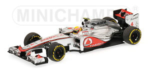 McLARENマクラーレン | F1 MP4-27 N 4 RACE VERSION 2012 LEWIS HAMILTON | SILVER RED /Minichampsミニチャンプス 1/43 ミニカー