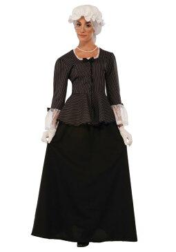マーサ・ワシントン レディースコスチューム 3点セット 女性用 コスプレ衣装 (二次会、仮装、パーティー、ハロウィン)大人女性用