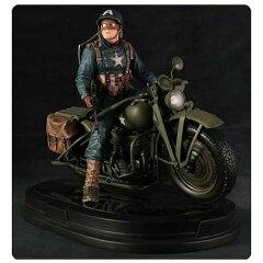 【予約】12月以降発売予定 バイクに乗ったキャプテンアメリカのスタチュー /GGジェントルジャイ...