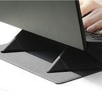 ノートパソコン 折りたたみスタンド 携帯用 カフェで仕事 Macbook マウスパッドにも