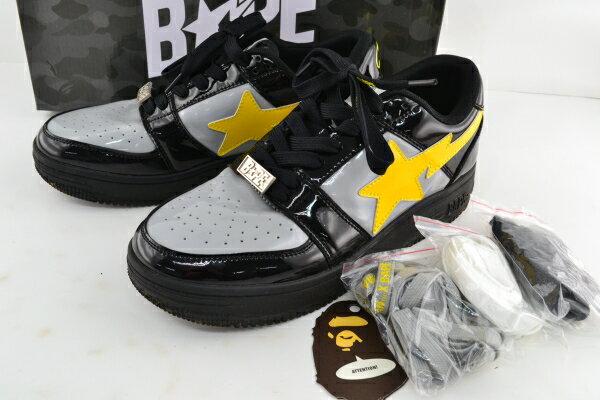メンズ靴, スニーカー A BATHING APE 1H23191906 BAPE X DC BATMAN BAPE STA LOW 27cm 02r6958