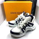 【中古】LOUISVUITTONルイヴィトンスニーカー靴アークライトサイズ41(25cm)1A4NGYホワイト白01r0472