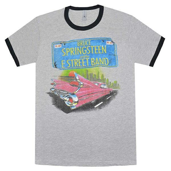 トップス, Tシャツ・カットソー BRUCE SPRINGSTEEN Pink Car Tin He T
