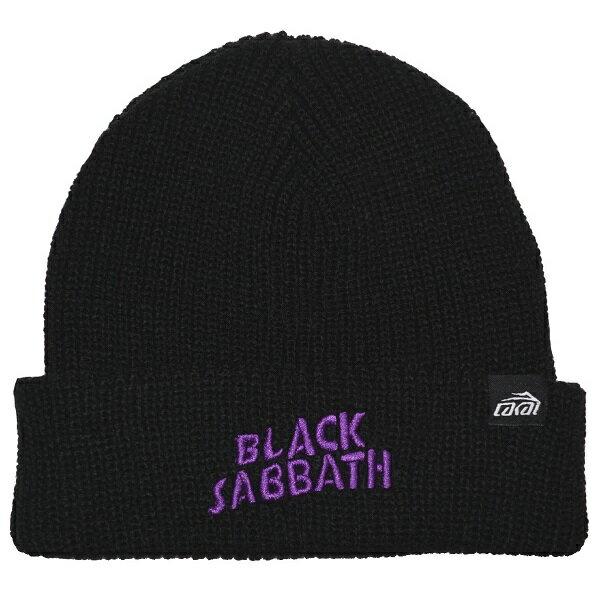 メンズ帽子, ニット帽 BLACK SABBATH LAKAI Logo BLACK