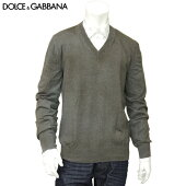 ■DOLCE&GABBANA(ドルチェアンドガッバーナ/ドルガバ)GA237KF05J1N0190/メンズ長袖ニット/Vネック/グレー