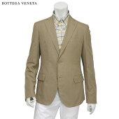 ■BOTTEGAVENETA(ボッテガヴェネタ)/メンズ/シングル/2つボタン/テーラードジャケット/コットン100%/ライトブラウン/48サイズ