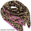 ルイヴィトン LOUIS VUITTON ルイ ヴィトン LV シルク100% カレジェアン・レオパード M75227 スカーフ 大判【scarf】