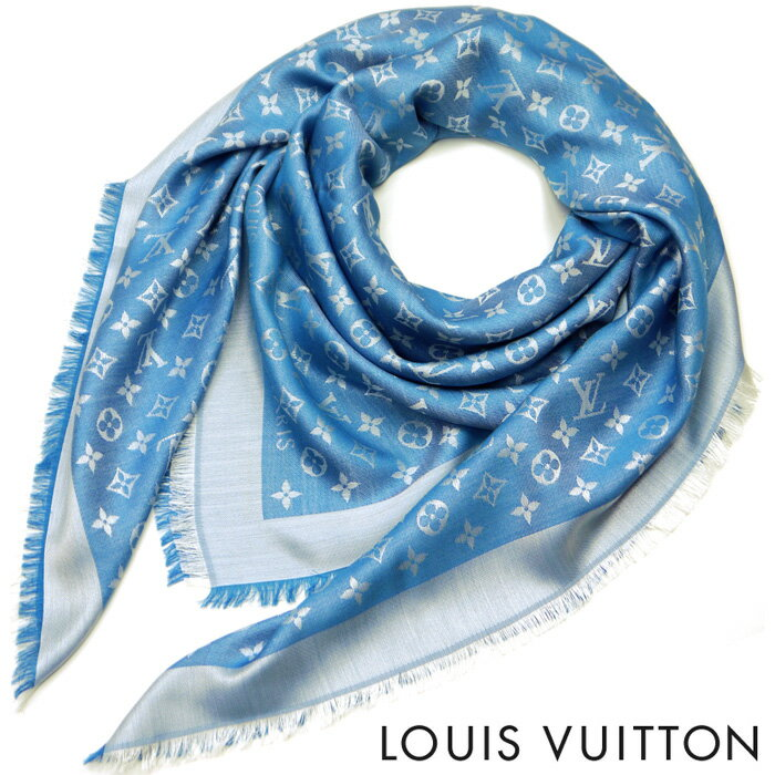 【訳あり】LOUIS VUITTON(ルイ・ヴィトン)レディース/メンズ/ストール/ショール・モノグラム デニム/M74019/ブルーエ【02P21Feb15】:トラゲット