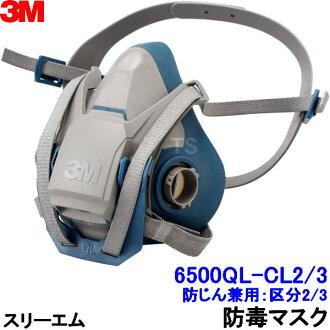 3 米呼吸器面罩 6500QL-CL3S (分類 3) 防塵口罩與類型
