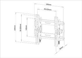 17〜32型薄型液晶TV用壁掛け金具PLB131S