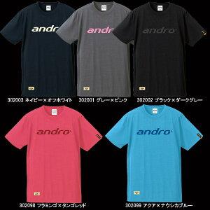 【andro】アンドロナパTシャツTown+JTTAマーク入り卓球用ゲームシャツ(Tシャツタイプ)【卓球用品】卓球Tシャツ/ユニフォーム/ユニホーム※注意※ヨーロッパサイズです。詳細はサイズ表参照※【RCP】