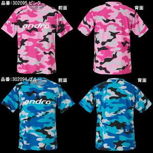 【andro】アンドロカモフラユニTJTTAマーク入り卓球用ゲームシャツ(迷彩柄Tシャツ)【卓球用品】卓球Tシャツ/ユニフォーム/ユニホーム※注意※ヨーロッパサイズです。詳細はサイズ表参照※【RCP】