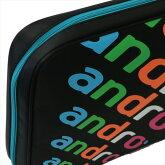 ★即納/あす楽★【andro】アンドロ 41200001 シングルケース [ブラック×ブルー] 【卓球用品】ラケットケース/卓球/ラケット ※DM便発送不可【RCP】。