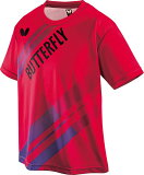 【Butterfly】バタフライ 45490-006 LASNEL T-SHIRT (ラスネル・Tシャツ) 男女兼用[レッド]【卓球用品】トレーニングシャツ/卓球Tシャツ/卓球/Tシャツ【RCP】