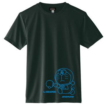 ◆DONIC◆ドニック YL110-ABCA DONIC I'M DORAEMON 卓球Tシャツ A [ブラック×ブルー]ドラえもんTシャツ/どらえもん/ドラエモン【卓球用品】Tシャツ/卓球Tシャツ/卓球【RCP】