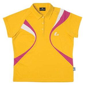 【LUCENT】ルーセントXLP4693LADIESゲームシャツ(ヒマワリイエロー)[テニス/ゲームシャツ]年度:15SS【RCP】