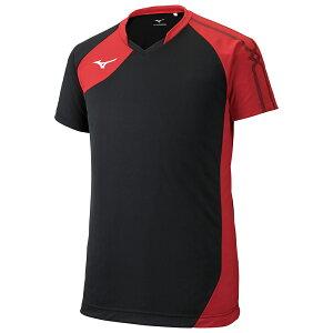◆MIZUNO◆ミズノ V2MA9001-96 ゲームシャツ(バレーボール)[ユニセックス][ブラック×レッド ][トレーニングシャツ/ゲームシャツ ポロシャツ]【RCP】