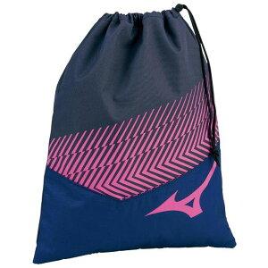 ◆MIZUNO◆ミズノ 33JM0413-87 シューズ袋[ネイビー×ピンク]【卓球用品】ケース/バッグ/バック/スポーツ/テニス/バドミントン【RCP】