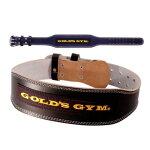 ゴールドジム ベルト GOLDS GYM ブラックレザーベルト  G3367 ウエイトトレーニング スクワット デッドリフト ベルト サポーター