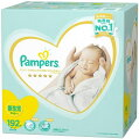 Pampersパンパース おむつ 新生児サイズ (~5kg) テープ はじめての肌へのいちばん204枚(68枚×3パック)オムツ