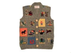 【送料無料】 INVERALLAN(インバーアラン)/Ralph type patchwork shetland vest(パッチワー...