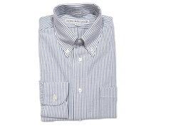 Individualized Shirts Standard Fit Seersucker Stripe Buttondown Shirt: Z51NBS Navy