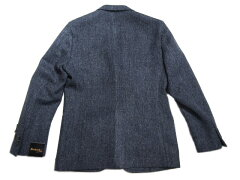 Southwick Cambridge Harris Tweed Jacket: Navy Herringbone
