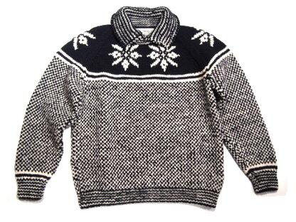 Inverallan 30D Snowflake Pullover: Navy / Natural