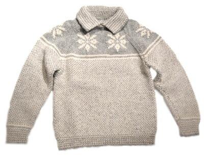 Inverallan 30D Snowflake Pullover: Grey / Natural