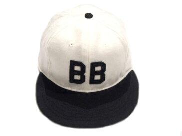 EBBETS FIELD x WAREHOUSE(エベッツフィールド x ウェアハウス)/VINTAGE BASEBALL CAP/BUSTIN'BABES 1927/cream x black