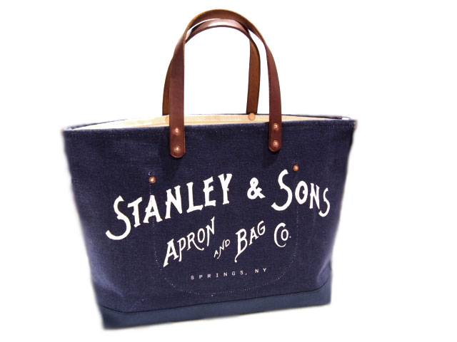 STANLEY & SONS (スタンレー&サンズ)/STANDARD LOGO TOTE(L) MADE IN U.S.A./navy x natural