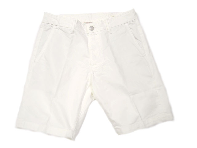 GROWN & SEWN (グロウン&ソーン) /INDEPENDENT SLIM SHORTS TWILL/white