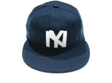 【期間限定30%OFF!】EBBETS FIELD(エベッツフィールド)/VINTAGE BASEBALL CAP/1935 New York Black Yankees/navy【アウトレット】