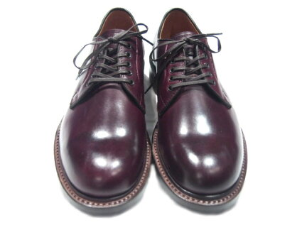 Wheelrobe Plain Toe Blucher 15066: Burgundy